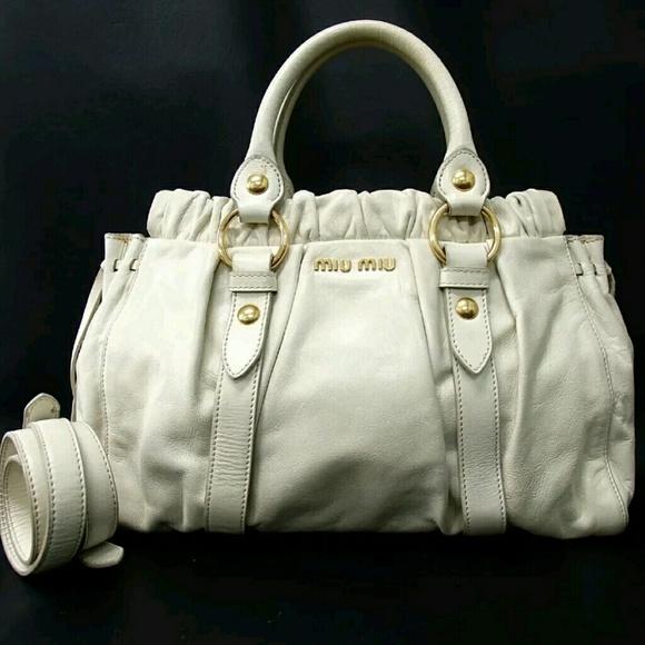 4979e762ff47 Miu miu Prada Gold Vitello Lux Calfskin tote bag. M_5abfaa18077b97fbde665fe4